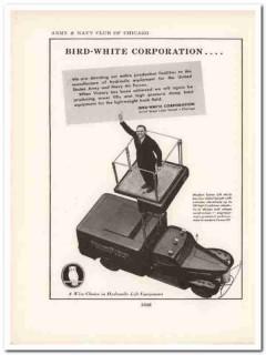 bird-white corp 1943 hydraulic equipment ww2 wartime vintage ad