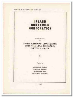 inland container corp 1943 fibre shipping ww2 wartime vintage ad