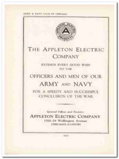 appleton electric company 1943 war conclusion ww2 wartime vintage ad