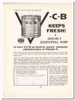 hilker bletsch company 1943 v-c-b vitamin c ww2 wartime vintage ad