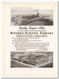 birtman electric company 1943 ready-eager-able ww2 wartime vintage ad