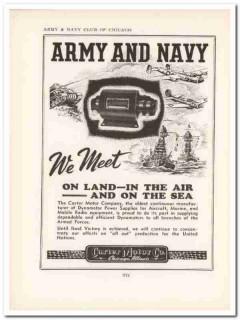carter motor company 1943 dynamotor army navy ww2 wartime vintage ad