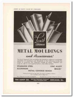 loxit company 1943 metal mouldings thresholds ww2 wartime vintage ad