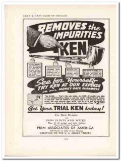prim associates of america 1943 ken removes impurities vintage ad
