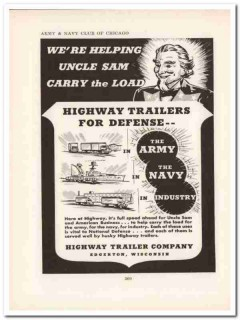 highway trailer company 1943 helping uncle sam ww2 wartime vintage ad