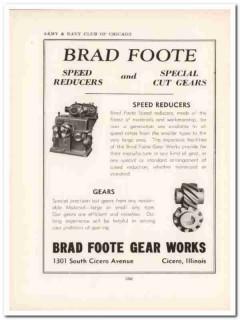 brad foote gear works inc 1943 speed reducers ww2 wartime vintage ad
