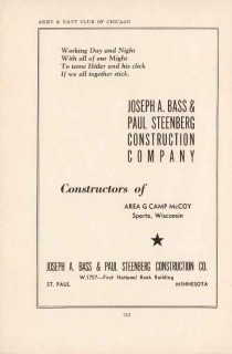 bass steenberg construction company 1943 area g ww2 wartime vintage ad