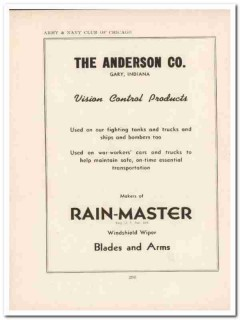 anderson company 1943 vision control products ww2 wartime vintage ad