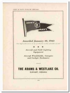 adams westlake company 1943 aircraft lighting ww2 wartime vintage ad