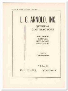 l g arnold inc 1943 construction contractor ww2 wartime vintage ad