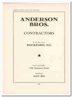 anderson bros inc 1943 construction contractors ww2 wartime vintage ad