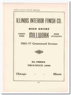illinois interior finish company 1943 wood cabinet millwork vintage ad