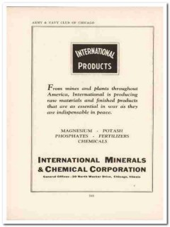 international minerals chemical corp 1943 mines ww2 wartime vintage ad