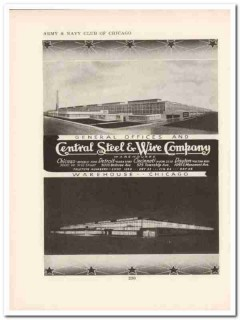 central steel wire company 1943 warehouses ww2 wartime vintage ad