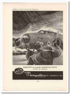 marquette metal products company 1943 wipers ww2 wartime vintage ad