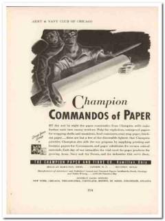 champion paper fibre company 1943 commandos ww2 wartime vintage ad