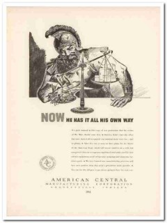 american central mfg corp 1943 war production ww2 wartime vintage ad