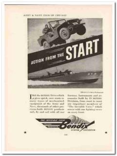 bendix aviation corp 1943 action start ww2 wartime vintage ad