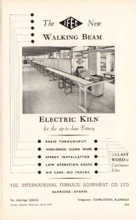 international furnace equipment company 1953 kiln pottery vintage ad