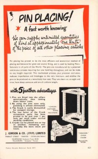 j gimson company 1953 pin placing glost enamel pottery vintage ad