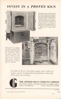 applied heat company ltd 1953 grafton proven kiln pottery vintage ad