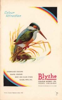 blythe colour works ltd 1953 underglaze enamels pottery vintage ad