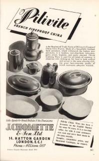 j chomette son ltd 1953 pilivite french fireproof china vintage ad