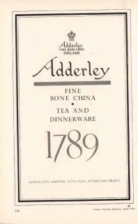 adderleys limited 1953 fine bone china dinnerware pottery vintage ad