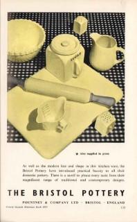 pountney company ltd 1953 bristol pottery domestic vintage ad