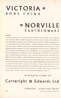 cartwright edwards ltd 1953 norville victoria bone china vintage ad