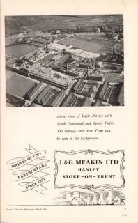 j g meakin ltd 1953 eagle pottery fine earthenware vintage ad