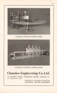 chandos engineering company ltd 1947 dippers dryer pottery vintage ad