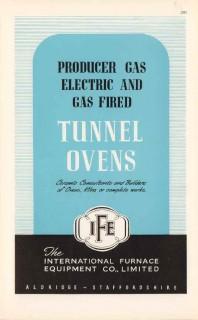 international furnace equipment company 1947 tunnel ovens vintage ad