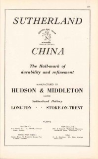 hudson middleton ltd 1947 sutherland china pottery vintage ad