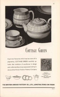 british anchor pottery company ltd 1947 cottage green vintage ad