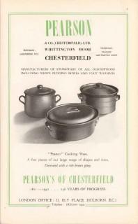 pearson company ltd 1947 peanco cook ware stoneware pottery vintage ad