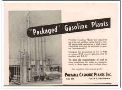Portable Gasoline Plants Inc 1951 Vintage Ad Packaged Process Pressure