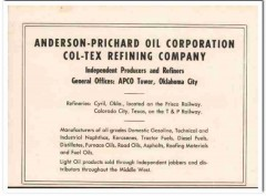 Anderson-Prichard Oil Corp 1951 Vintage Ad Col-Tex Refining Company