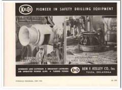 Ben F Kelley Company 1959 Vintage Ad Kelco Safety Drilling Equipment