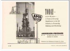 Anderson-Prichard Oil Corp 1959 Vintage Ad APCO Petroleum Products