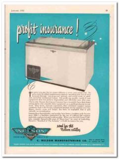 C Nelson Mfg Company 1952 Vintage Ad Ice Cream Cabinet Profit