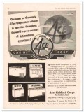 Ace Cabinet Corp 1952 Vintage Ad Ice Cream Dispensing Low Temperature