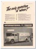 international harvester company 1952 ice cream route truck vintage ad