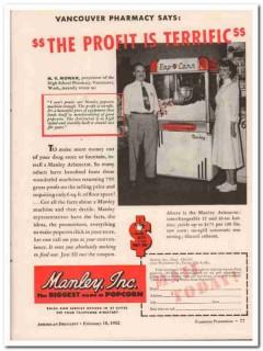 manley inc 1952 high school pharmacy vancouver wa mv mowan vintage ad