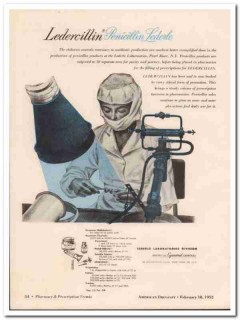 american cyanamid company 1952 ledercillin penicillin vintage ad