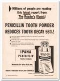 bristol-myers 1952 ipana penicillin tooth powder medical vintage ad