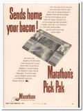 marathon corp 1952 send home bacon pick pak meat packing vintage ad