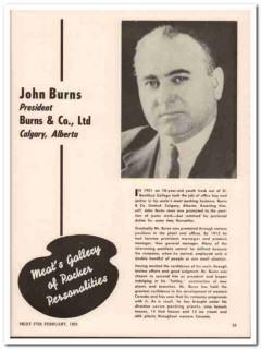 burns company ltd 1952 john calgary alberta meat packing vintage ad