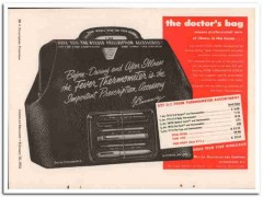 becton dickinson company 1952 b-d doctors bag thermometer vintage ad