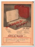 Abel Bach Inc 1946 Vintage Ad Luggage Pla-Mate Oversold-Sorry Post-War